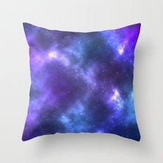 Blue Galaxy Throw Pillow
