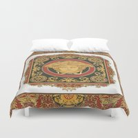 givenchy Duvet Covers featuring Classic Versace by Goldflakes