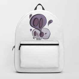 Purple ghost and skull  Backpack