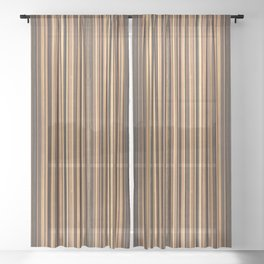 Twine Vertical Stripes Sheer Curtain
