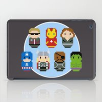 avenger iPad Cases featuring Pixel Art - Avenger parody by Cloudsfactory