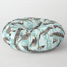sea otters blue Floor Pillow