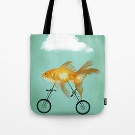2 wheeled goldfish Tote Bag