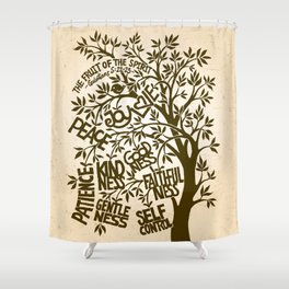 Fruit of the Spirit (Monotone) Shower Curtain