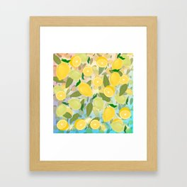 Lemon Song Framed Art Print