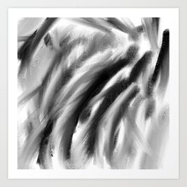 Charcoal Black White Art Print