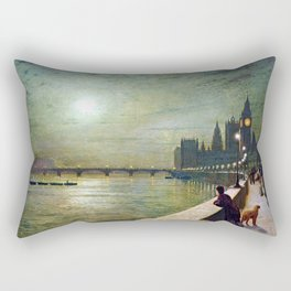 John Atkinson Grimshaw Reflections on the Thames Rectangular Pillow