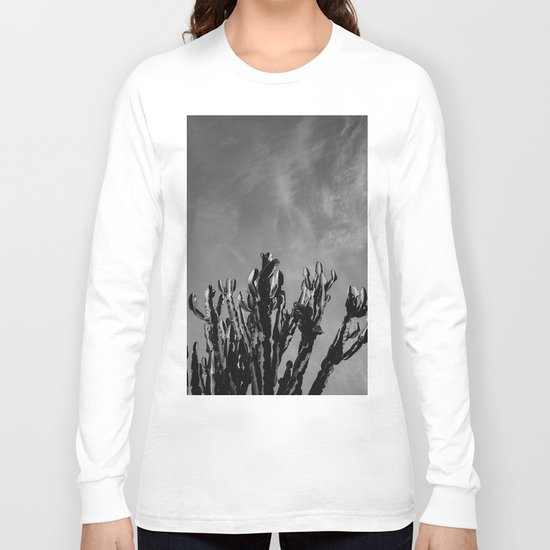 Monochrome Cactus Sky Long Sleeve T-shirt