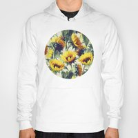 flower Hoodies featuring Sunflowers Forever by micklyn