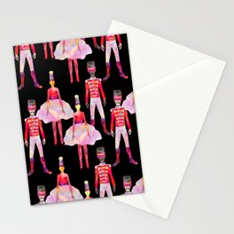 Nutcracker Ballet - Black Stationery Cards