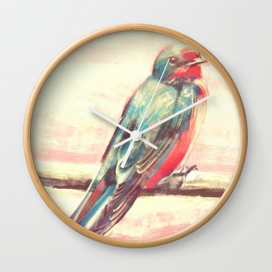 Carry Your Heart Wall Clock