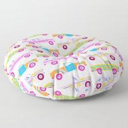 Retro Roads – Candy Palette Floor Pillow