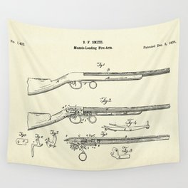 Muzzle-Loading Fire-arm-1839 Wall Tapestry