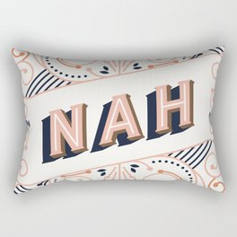 Nah – Peach Palette Rectangular Pillow