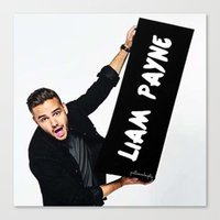 liam payne Canvas Prints featuring Liam Payne by girllarriealmighty