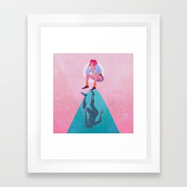 Fallen Into The Hypothetical Well Framed Art Print