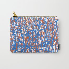 Red and Blue Collage Carry-All Pouch