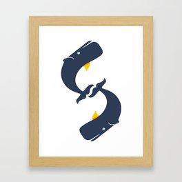 $ Whales Framed Art Print