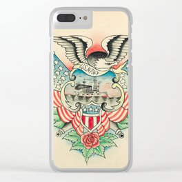 Vintage Navy Tattoo Design Clear iPhone Case