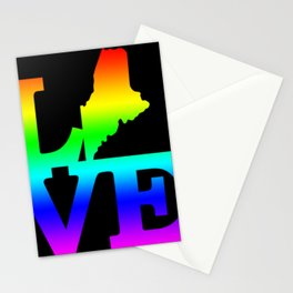 Maine Pride USA State Love Map Stationery Cards