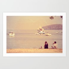 Sea & Love Art Print