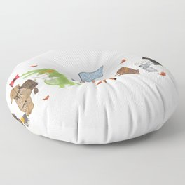 lets all go exploring Floor Pillow
