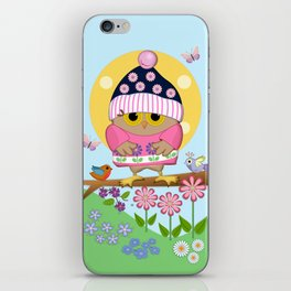 Spring owl in her new dress iPhone Skin