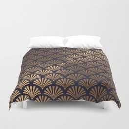 Art Deco Shell Pattern Duvet Cover