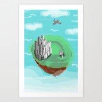 castle in the sky Art Prints featuring Sky Castle by wkdowd