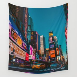 City Lights NYC (Color) Wall Tapestry