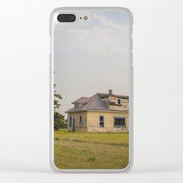 The Yellow House, Arena, North Dakota 1 Clear iPhone Case