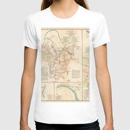 Civil War Batlle Field Maps From 1895 T-shirt