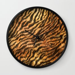 Bengal Tiger Fur Wildlife Print Pattern Wall Clock