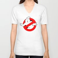 ghostbusters V-neck T-shirts featuring Ghostbusters by IIIIHiveIIII