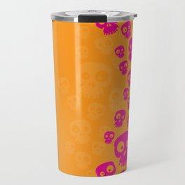 Skulls Fun - pink/orange Travel Mug
