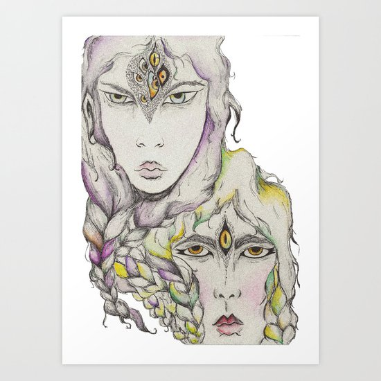 Wood Elves Art Print