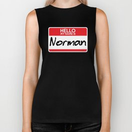 My Name is Norman Horror Film Simple Halloween Costume Idea Trick or Treat Gift Film Buffs Scary Biker Tank