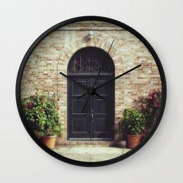 Courtyard Door Wall Clock