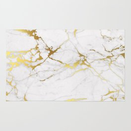 White gold marble Rug