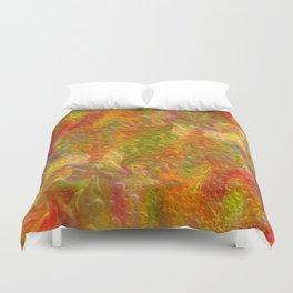 Digital floral background Duvet Cover