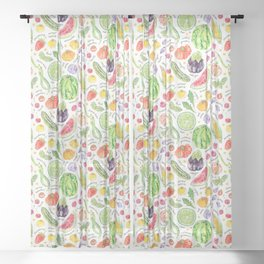 Summer Harvest Pattern Annotated Sheer Curtain