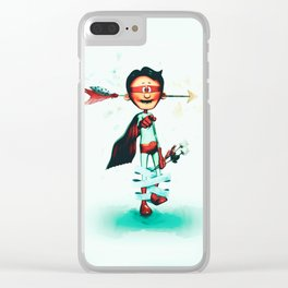Super Hero In Love Clear iPhone Case