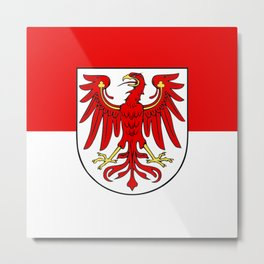 Flag of brandenburg Metal Print
