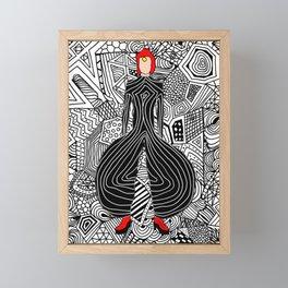 Heroes Fashion 6 Framed Mini Art Print