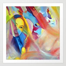 Fading Memories, 50-50cm, 2016, oil on canvas Art Print