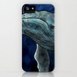 Humpback Whale Illustration iPhone Case