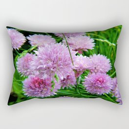Chive Flower Clusters Rectangular Pillow