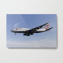 British Airways Boeing 747 Metal Print