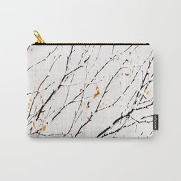 Snowy birch twigs and leaves #society6 #decor #buyart Carry-All Pouch