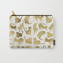 Cat Positions – Gold Palette Carry-All Pouch